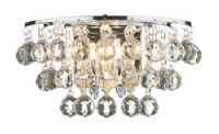 Pluto Wall Light in Polished Chrome and Crystal Glass Decoration - där PLU0950